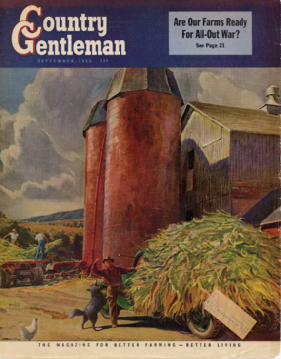 Putting up Silage: Country Gentleman Cover