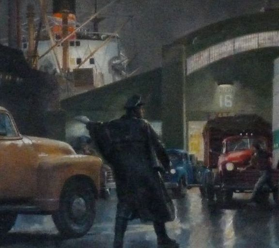 Unloading Freighters (detail)